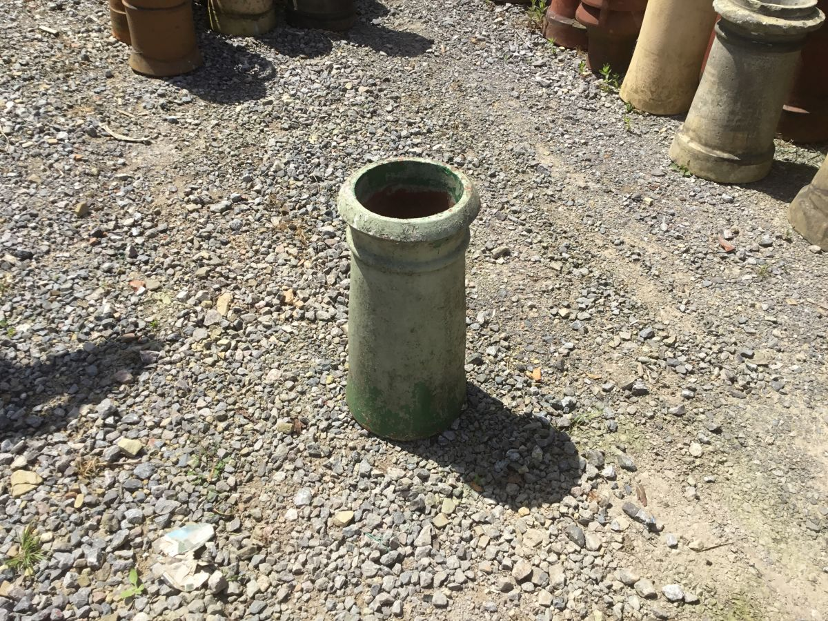 Painted Cannon Head Chimney Pot