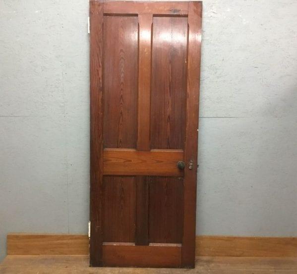 4 Panel Pitch Pine Door