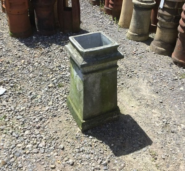 Tall Grey Square Chimney Pot