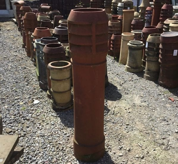 Very Tall Terracotta Louvred Chimney Pot