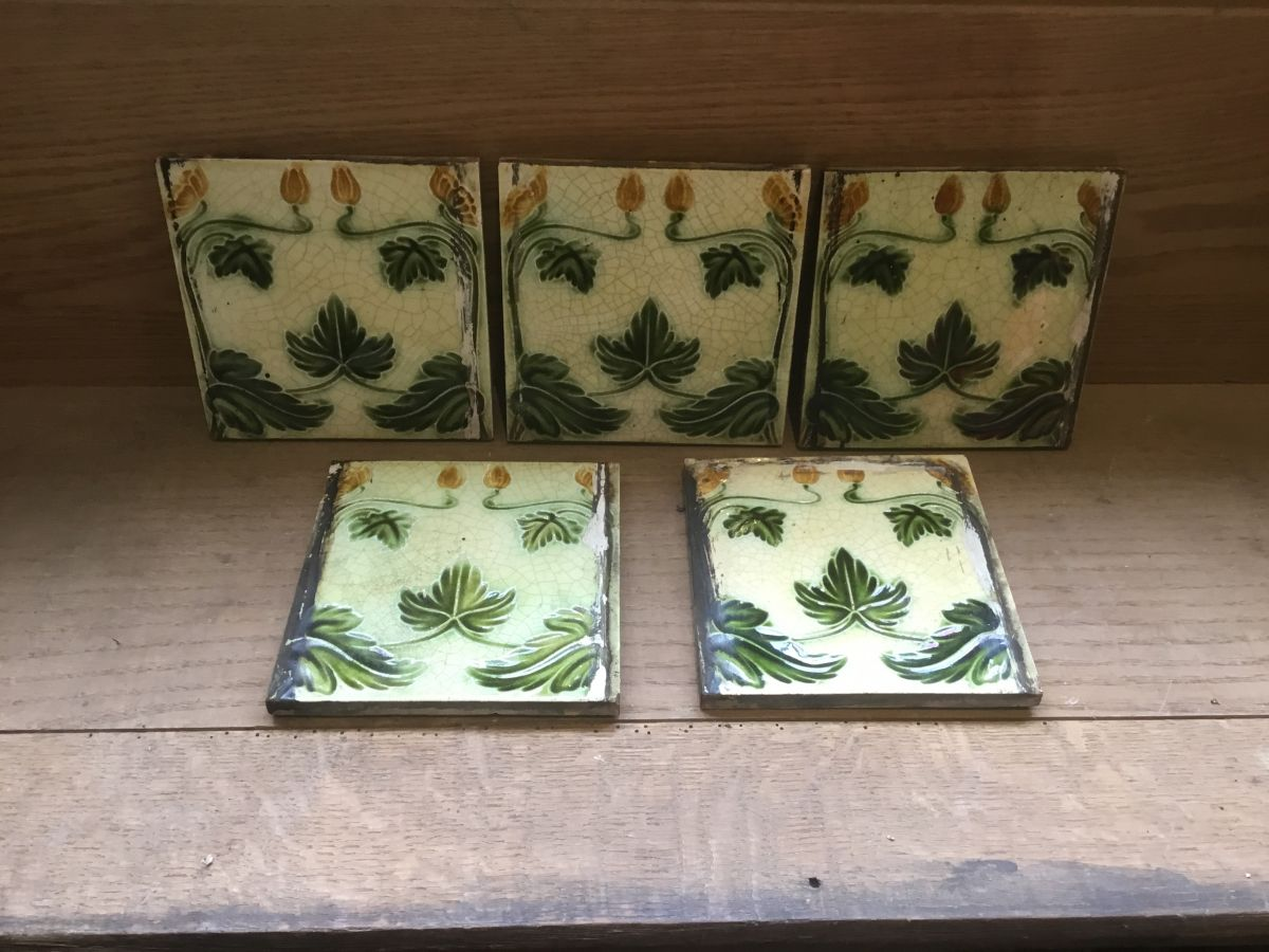 Yellow & Green Floral Tiles