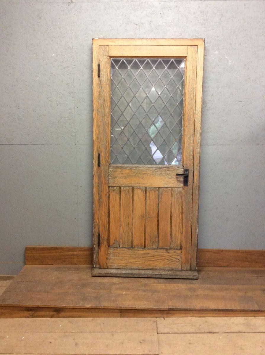 Solid Oak Half Glazed Door + Frame