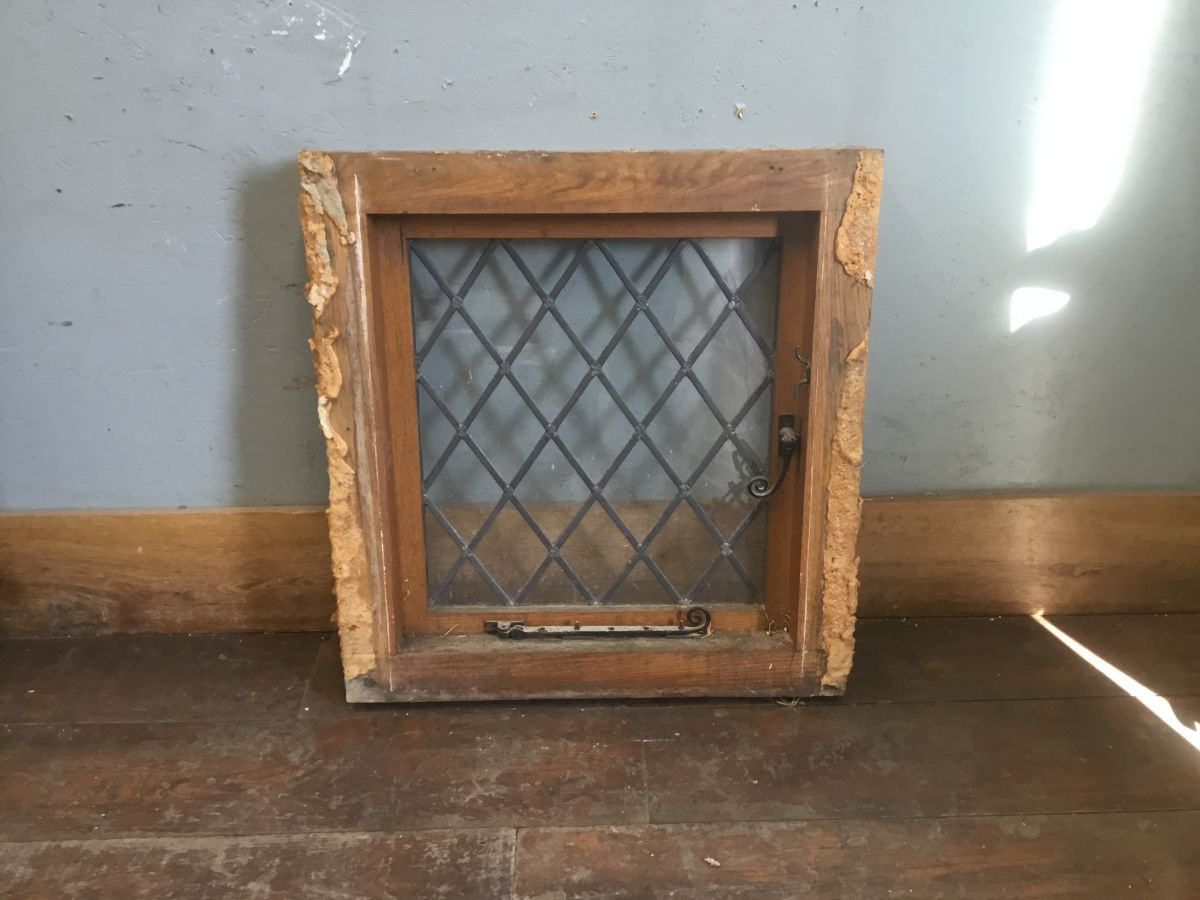 Oak Framed Lead Light Window