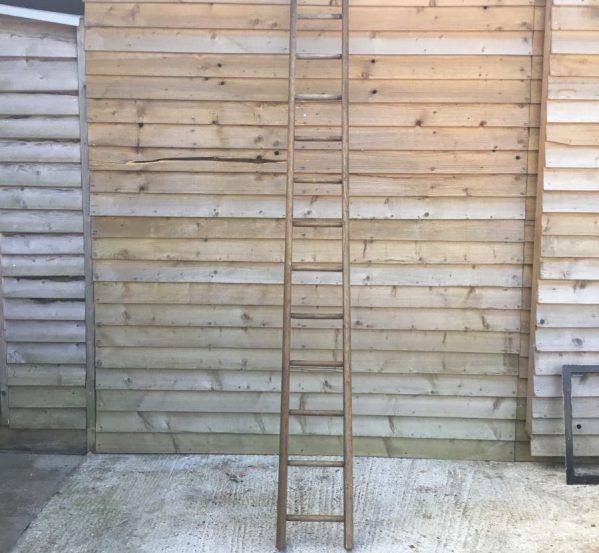 Round Rung Wooden Ladder