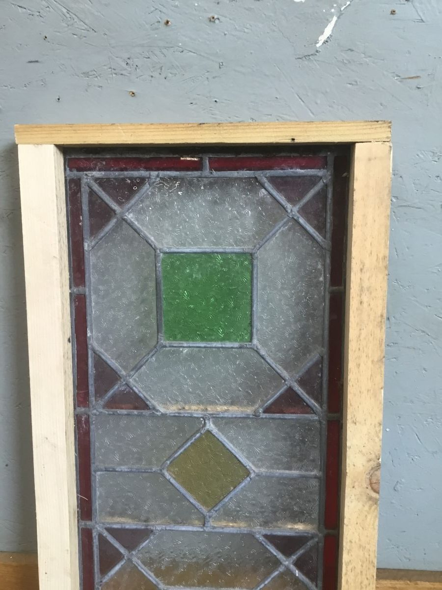 Rectangular Panel Window Green Square Details