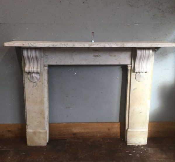 Light Grey Marble Fire Surround