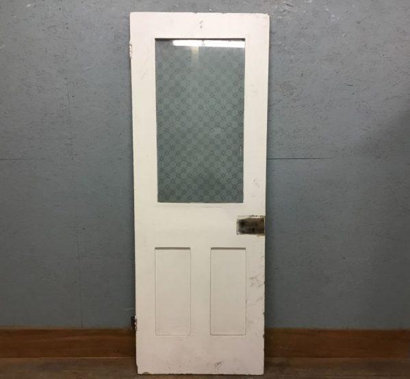 Nice Half Glazed Painted 3 Panel Door